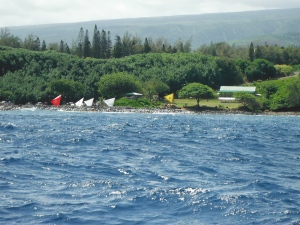 Staging Canoes for departure from Keokea Beach
