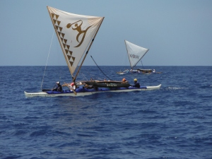 Maui Canoes racing to Kahului Harbor 4/28/13