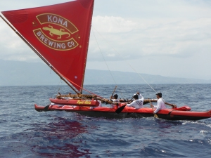 Kamakakoa refurbished and racing to Kahului 4/28/13