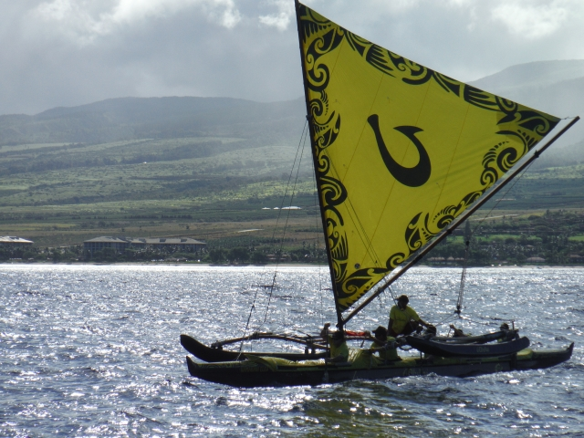 Olukai leaving Maui, photo by Spencer Boomer