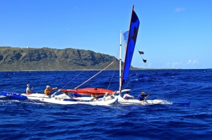 Maui Jim at Kaena Point on the way to a win! Phot : Gloria reed
